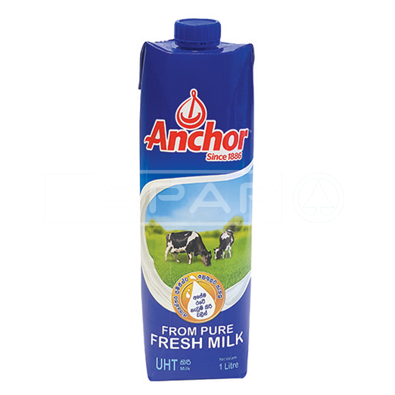 ANCHOR UHT White Milk Tetra, 1L