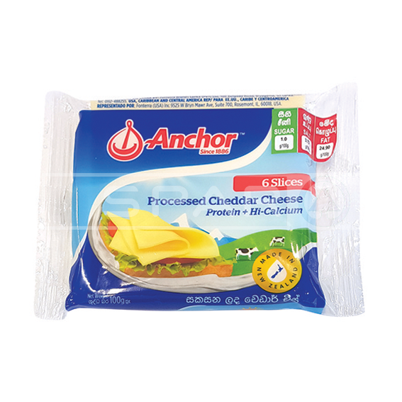 ANCHOR Processed Cheddar Cheese Slices, 100g