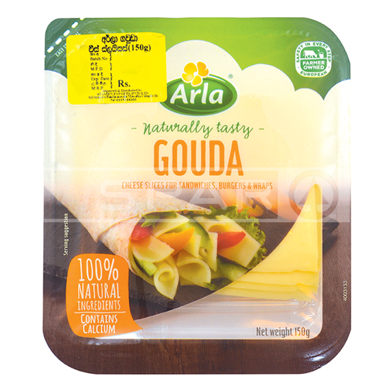 ARLA Danish Gouda, Cheese Slices, 150g