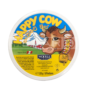 HAPPY COW Cheese Portions round box , 120g