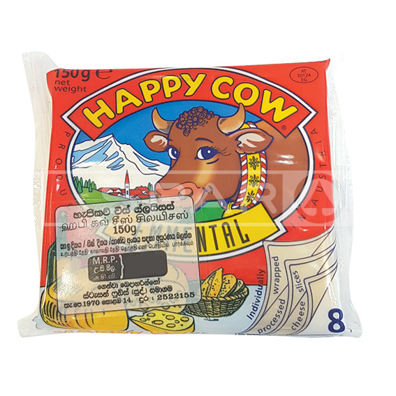 HAPPY COW Cheese Emmenthal Slices, 8s / 150g
