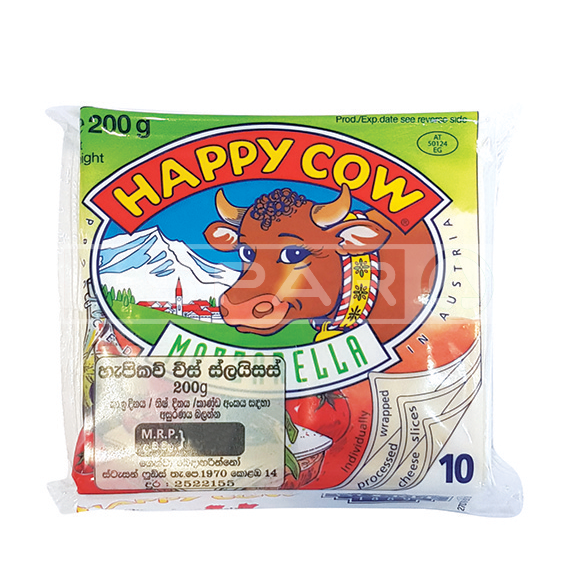 HAPPY COW Mozzarella Cheese Slices 10s / 200g