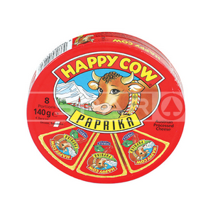 HAPPY COW Cheese, Paprika, Round Box, 140g