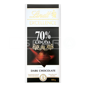 LINDT, Excellence Dark Chocolate 70%, 100g