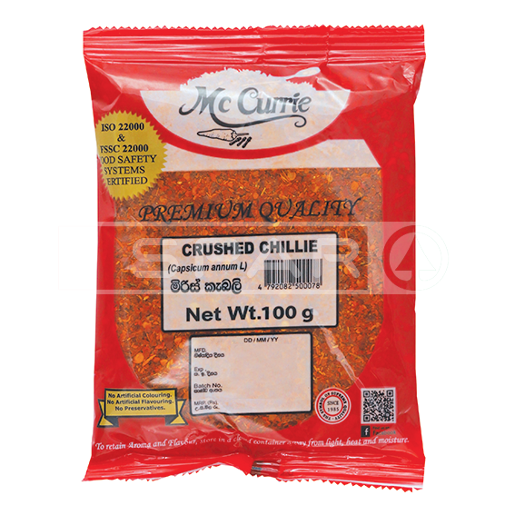 MCCURRIE Crushed Chilli 100g