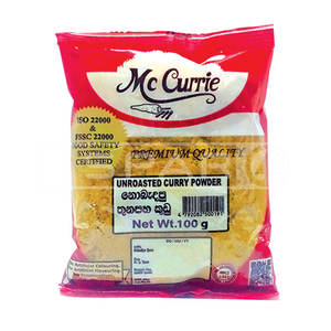 MCCURRIE Unroasted Curry Powder, 100g