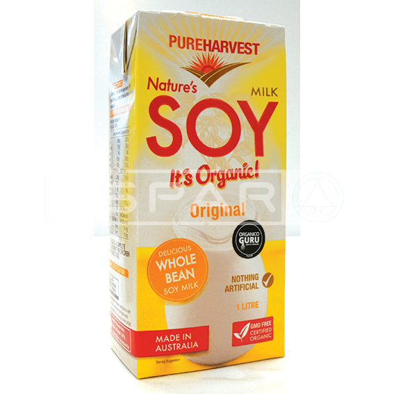 PUREHARVEST Original Nature's Soy Milk, 1l