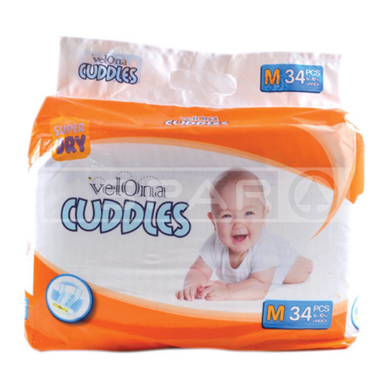 VELONA CUDDLES Baby Diaper, Medium, 34s