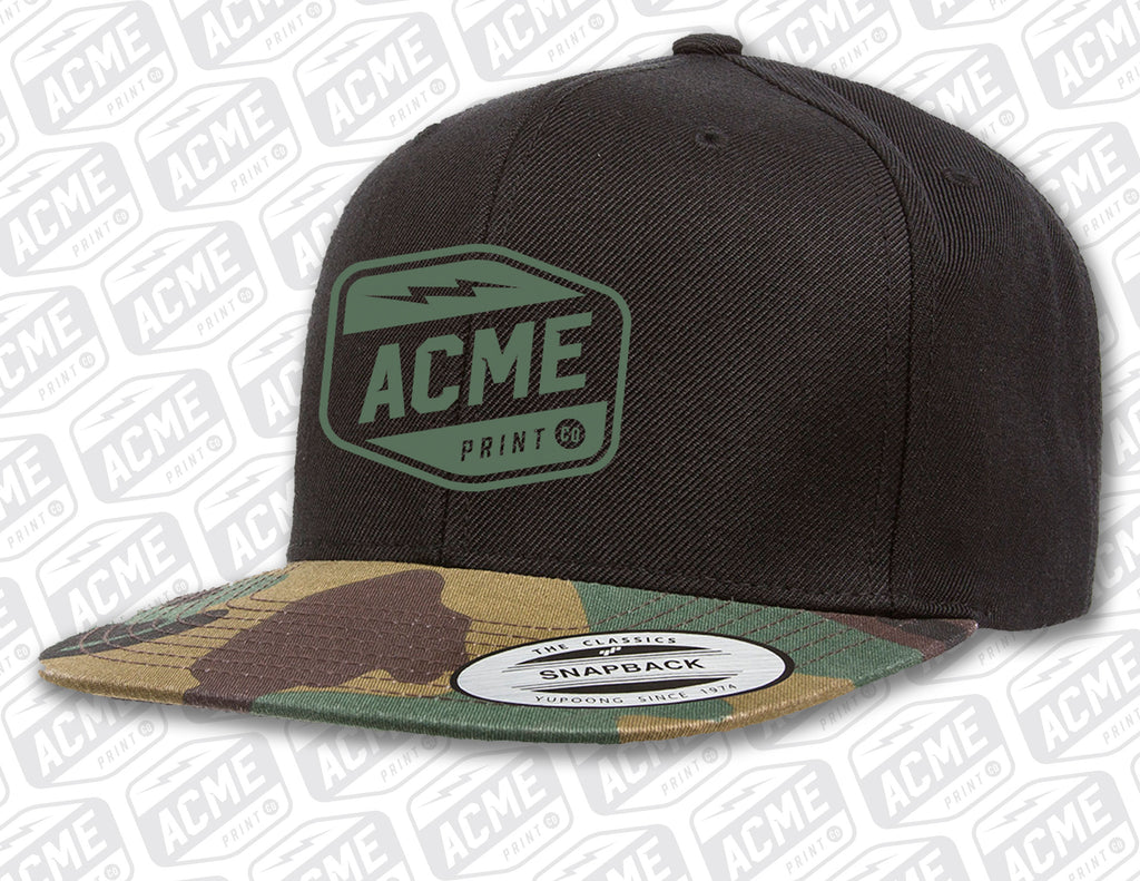 Camo Brim Embroidered Hat