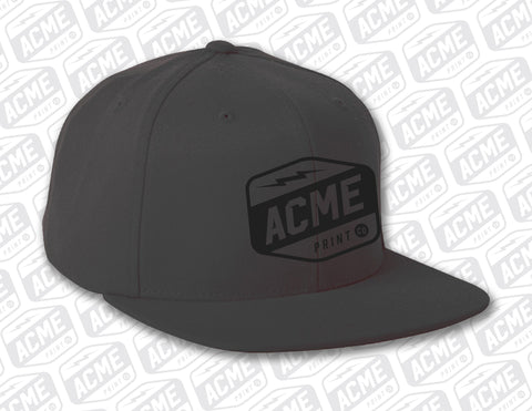 ACME - Black on Black Embroidered Hat