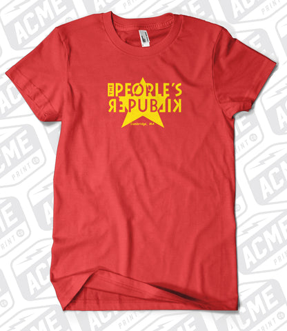 Peoples Republik - Old School Star Red Ladies Tee