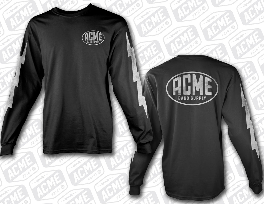 Distressed Oval Logo Long Sleeve