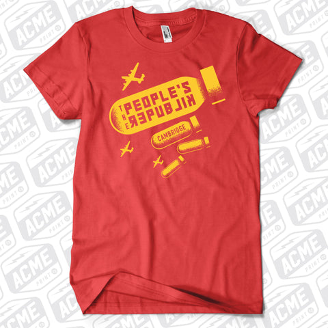 Peoples Republik - Bomb Logo Red Tee