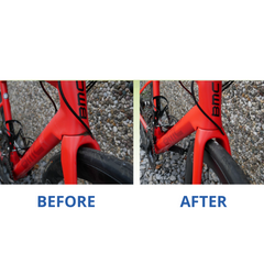 waterless bicycle cleaner before and after
