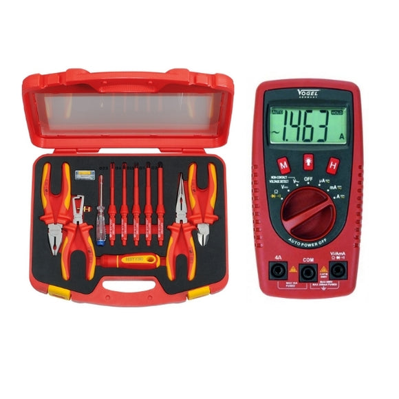 VDE Electrician Set with Multimeter