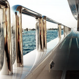 polishing yacht railings
