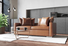 Load image into Gallery viewer, The Halina sofa bed model is our absolute favorite as we designed it with perfection in mind. It has modern, clean lines juxtaposed with ultra-comfortable seating and down cushions. Modern and relaxed were two words that couldn't be used together until we created the Halina!