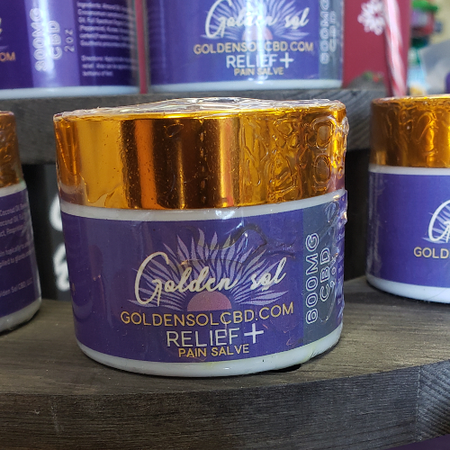 Relief+ 600mg Pain Salve - Golden Sol CBD Colorado CBD