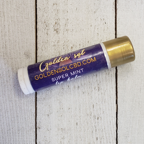 Lip Balm - Super Mint - Golden Sol CBD Colorado CBD