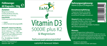 Laden Sie das Bild in den Galerie-Viewer, Vitamin D3 + K & Magnesium