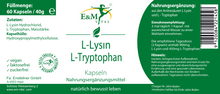 Laden Sie das Bild in den Galerie-Viewer, L-Lysin - L-Tryptophan