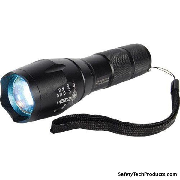 1,200 Lumen LED Zoomable Flashlight - Safety Tech Security Products