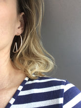 Load image into Gallery viewer, Silver Slice Earrings
