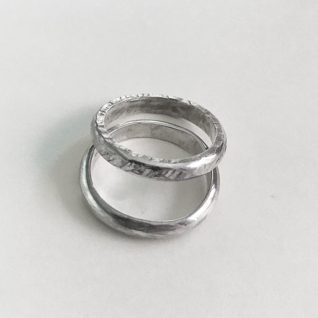 Hammered Silver Pinky Ring