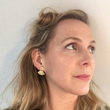 Load image into Gallery viewer, Brass Cape Earrings