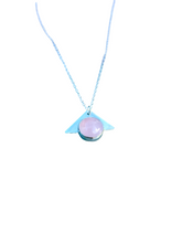 Load image into Gallery viewer, Rose Quartz Triangle Necklace