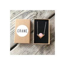 Load image into Gallery viewer, Hand Made Rose Quartz Silver Necklace