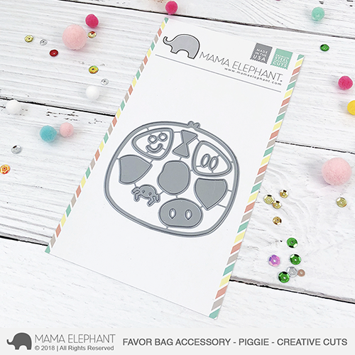 Favor Bag Accessory - Piggie - Creative Cuts