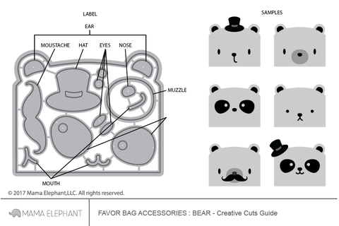 Favor Bag Accessory - Bear