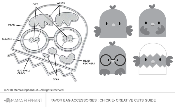 Favor Bag Accessory - Chickie - Creative Cuts
