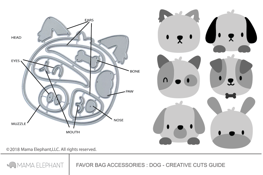 Favor Bag Accessory - Dog - Creative Cuts