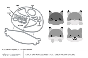 Favor Bag Accessory - Fox - Creative Cuts