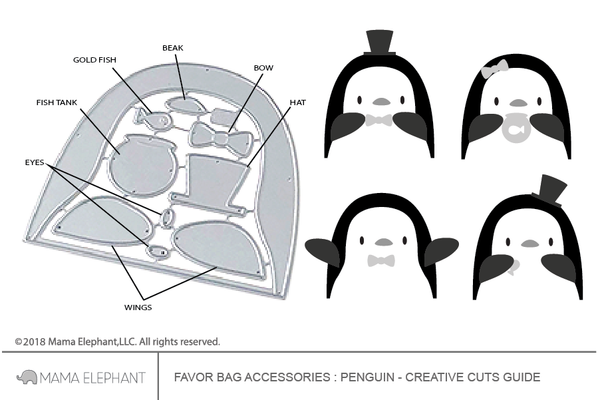Favor Bag Accessory - Penguin - Creative Cuts