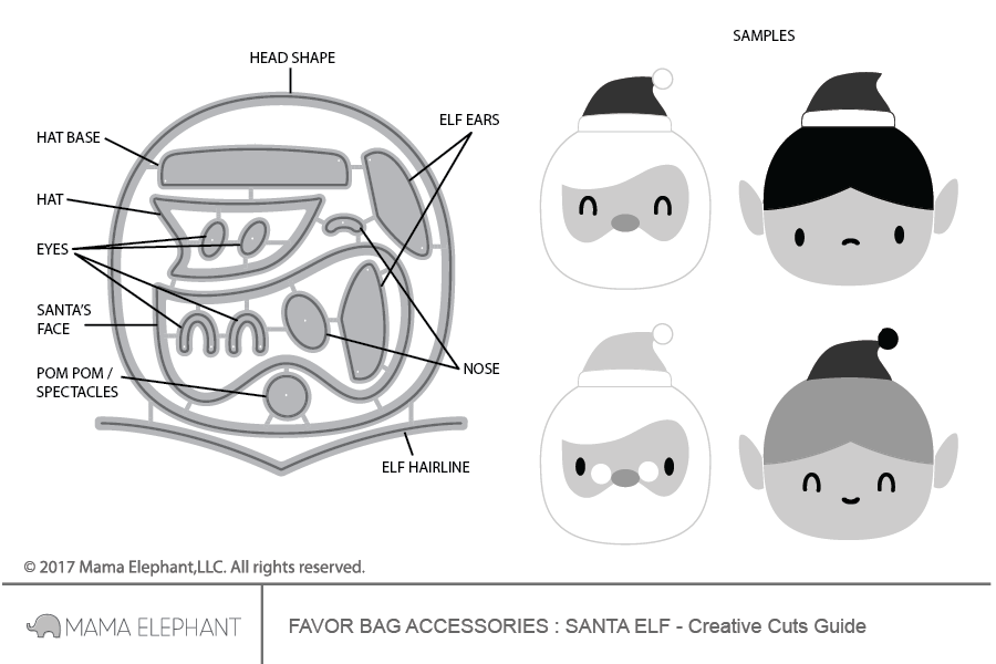 Favor Bag Accessory - Santa Elf - Creative Cuts
