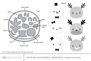 Favor Bag Accessory - Snow Deer - Creative Cuts