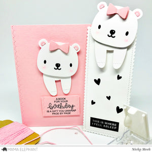 Book Buddy - Bear and Dog - Creative Cuts