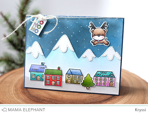 Snow Capped Mountains Creative Cuts Mama Elephant