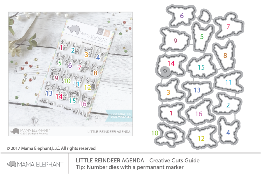 Little Reindeer Agenda - Creative Cuts