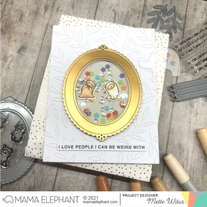 Oval Deco Frame - Creative Cuts