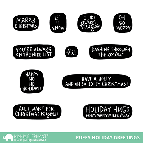 PUFFY HOLIDAY GREETINGS