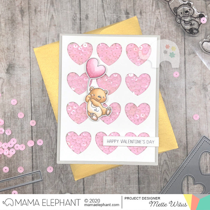Heart Grid Cover - Creative Cuts - Mama Elephant