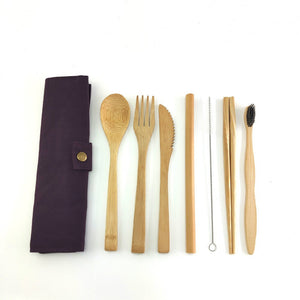 Travel Bamboo Cutlery Set and Utensils