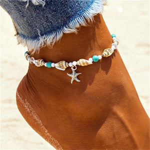 Star Fish Cowrie Anklet