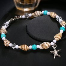 Load image into Gallery viewer, Star Fish Cowrie Anklet