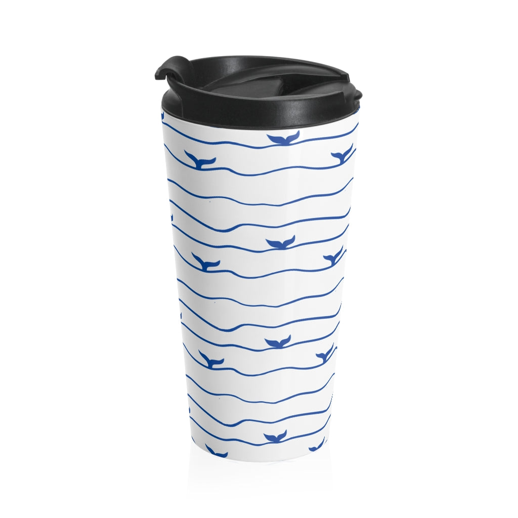 Whale Tail Stainless Steel Travel Mug