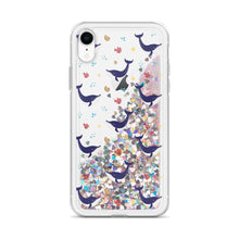 Load image into Gallery viewer, Whale Liquid Glitter Phone Case
